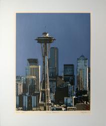 Blue Needle - limited edition original screen print