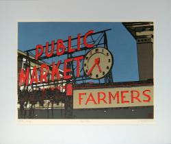 Pike Place - limited edition original screen print